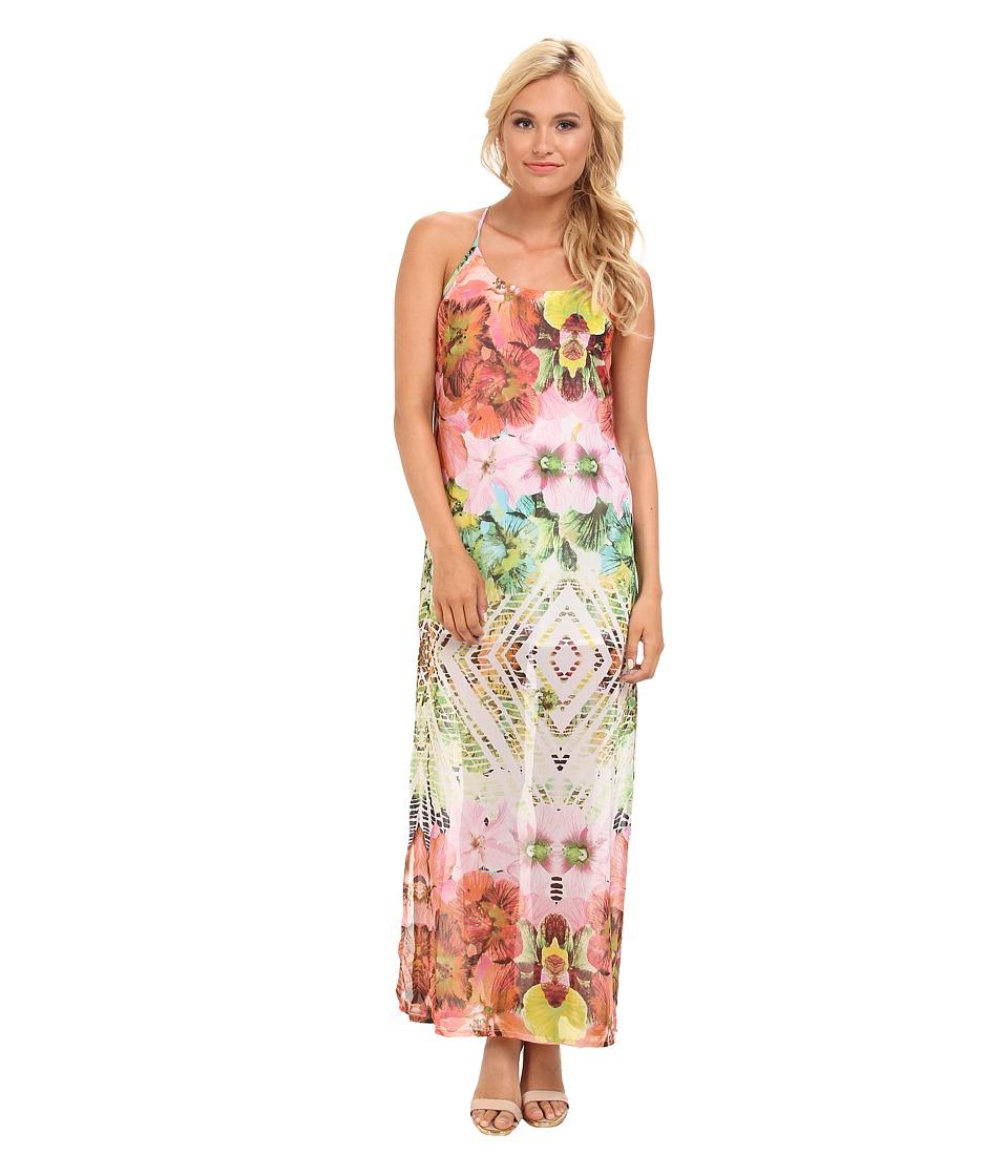 KAS New York - Suri Maxi Dress (Exlopsive Floral Print) Women's Dress