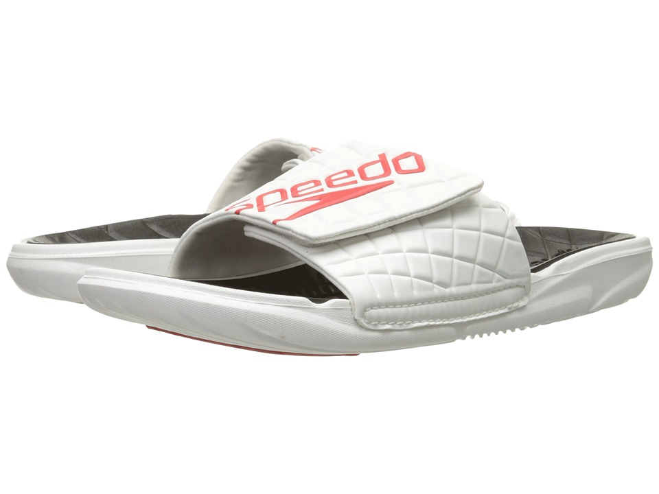 Speedo - Exsqueeze Me Rip Slide (White/Black) Men's Sandals
