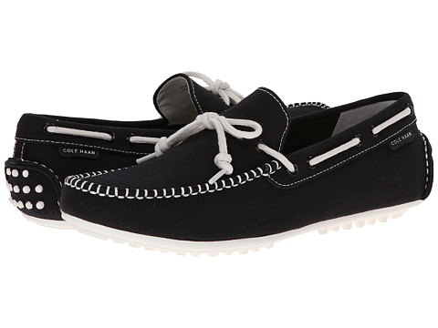 Cole Haan - Grant Escape (Black Fabric) Men's Slip on Shoes