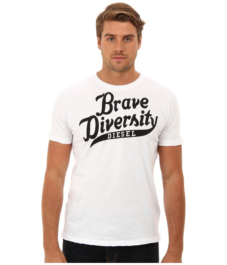 Diesel - T-Brave-Diversity-R T-Shirt (White) Men's Short Sleeve Pullover