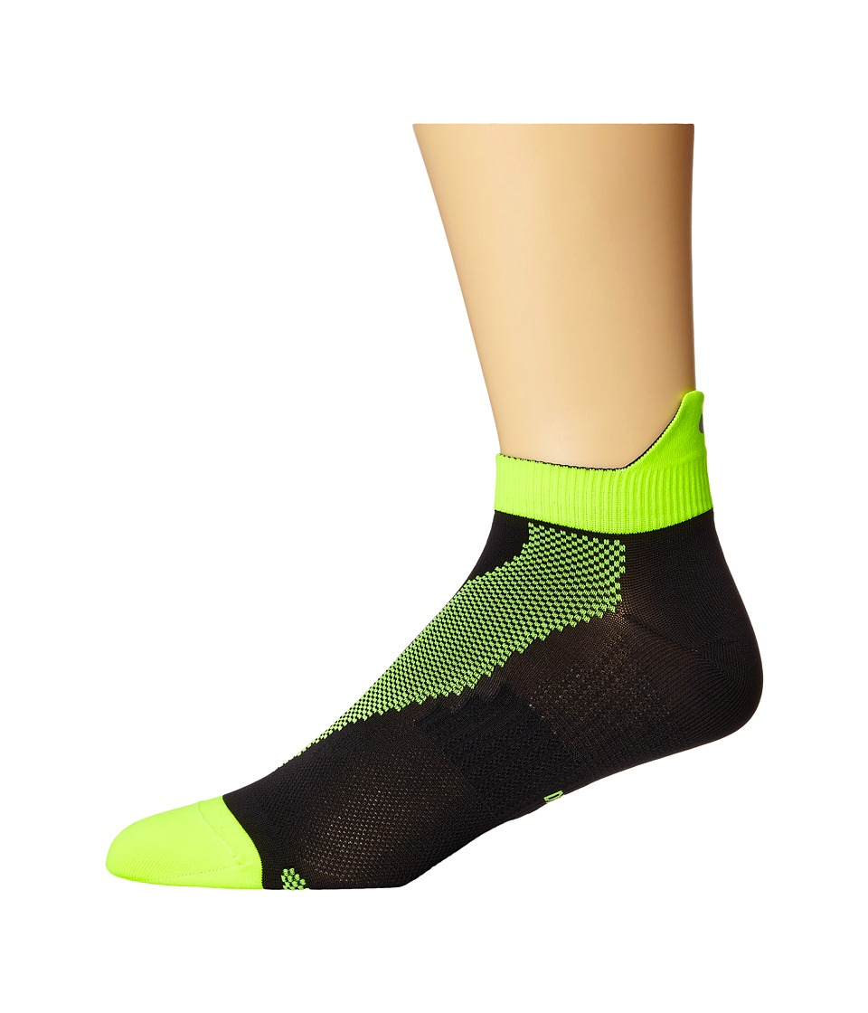 Nike - Elite Run Lightweight No Show (Black/Volt/Volt) No Show Socks Shoes