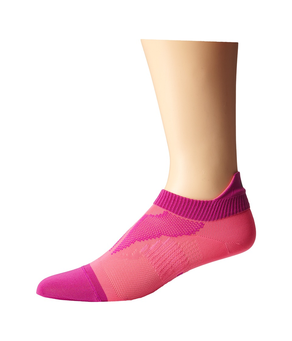 Nike - Elite Run Lightweight No Show (Pink Pow/Fuchsia Flash/Pink Pow) No Show Socks Shoes