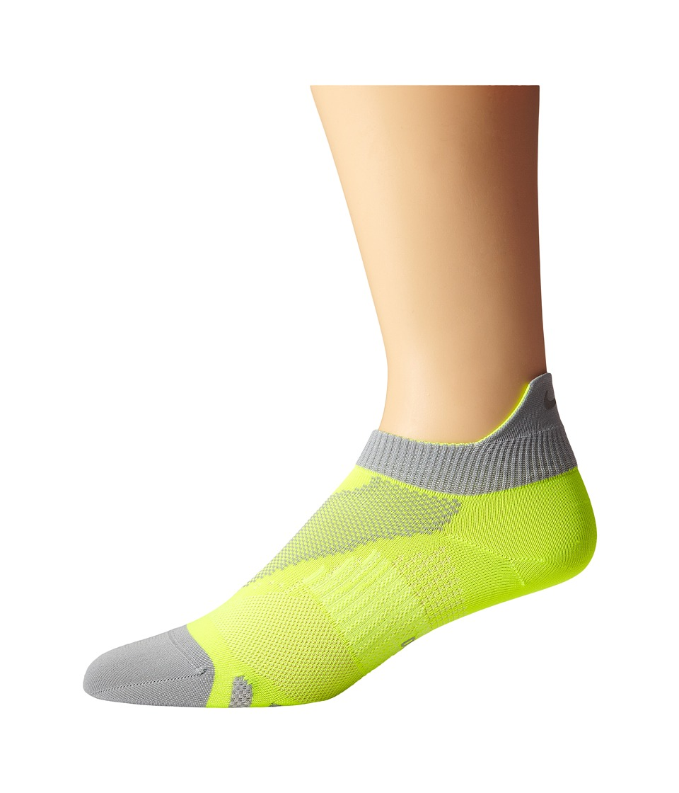 Nike - Elite Run Lightweight No Show (Volt/Wolf Grey/Wolf Grey) No Show Socks Shoes