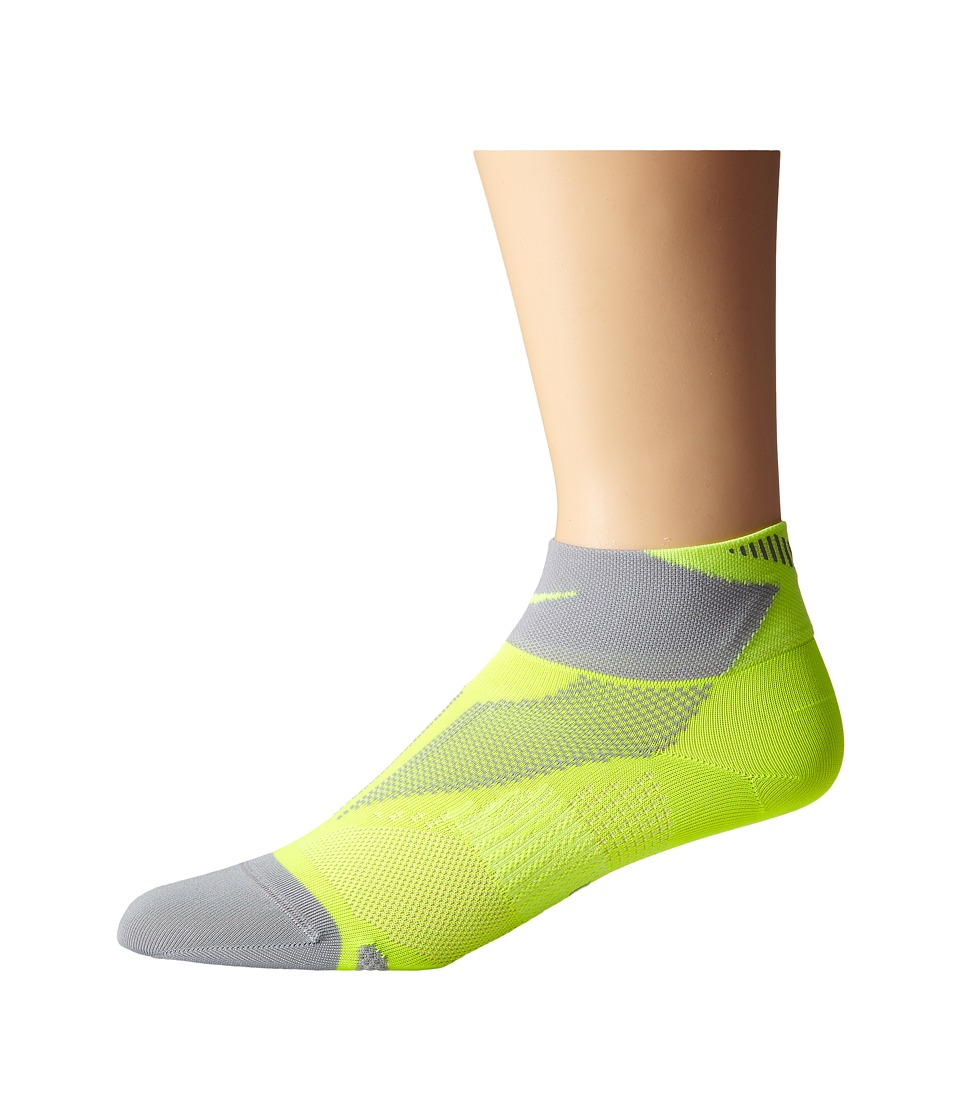 Nike - Elite Run Lightweight Quarter (Volt/Wolf Grey/Volt) Quarter Length Socks Shoes