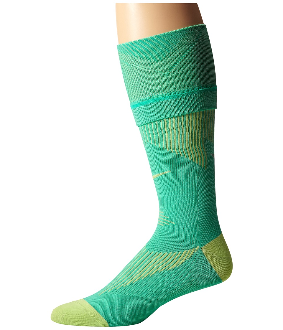 Nike - Elite Running Graduated (Menta/Key Lime/Key Lime) Knee High Socks Shoes