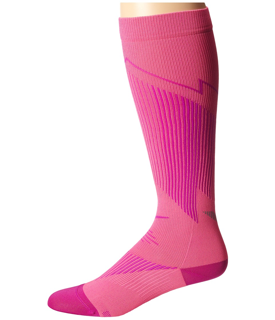 Nike - Elite Running Graduated (Pink Pow/Fuchsia Flash/Fuchsia Flash) Knee High Socks Shoes