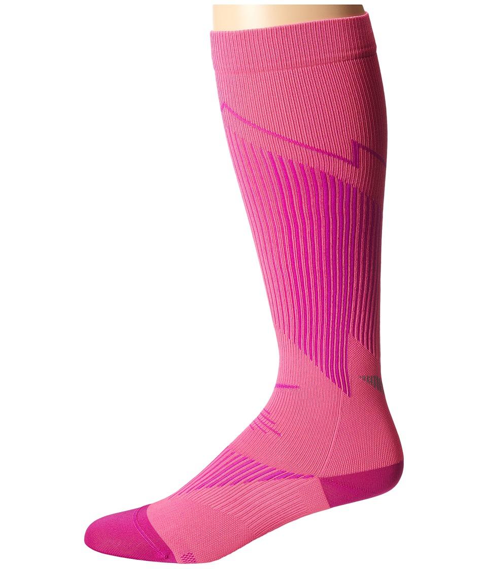 Nike - Elite Running Graduated (Pink Pow/Fuchsia Flash/Fuchsia Flash) Knee High Socks Shoes