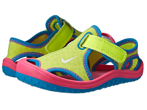 Nike Kids - Sunray Protect (Infant/Toddler) (Volt/Pink Pow/Blue Lagoon/White) Girls Shoes