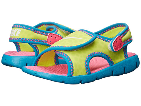 Nike Kids - Sunray Adjust 4 (Infant/Toddler) (Volt/Blue Lagoon/Pink Pow/White) Girls Shoes