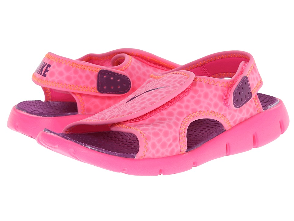 Nike Kids - Sunray Adjust 4 (Little Kid/Big Kid) (Pink Pow/Total Orange/Bold Berry) Girls Shoes