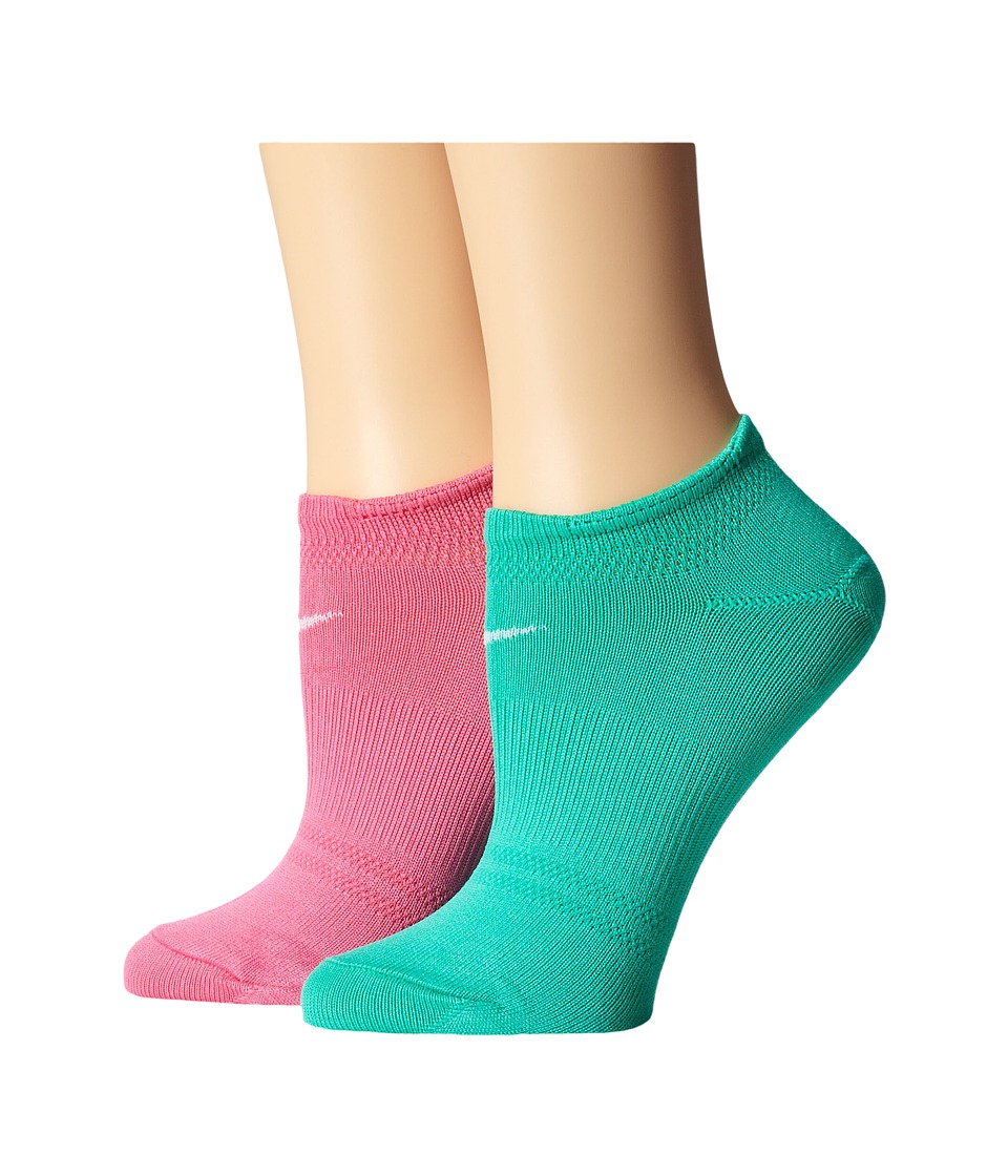 Nike - 2 Pair Pack Lightweight Studio No Show (Pinksicle/White/Menta/White) Women's No Show Socks Shoes