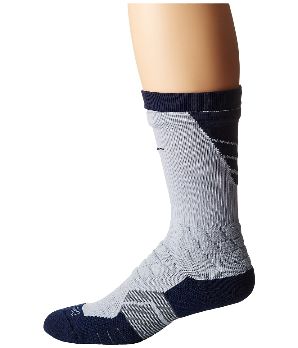 Nike - 2.0 Elite Vapor Football (Wolf Grey/College Navy/College Navy) Crew Cut Socks Shoes