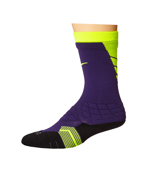 Nike - 2.0 Elite Vapor Football (Ink/Volt/Volt) Crew Cut Socks Shoes