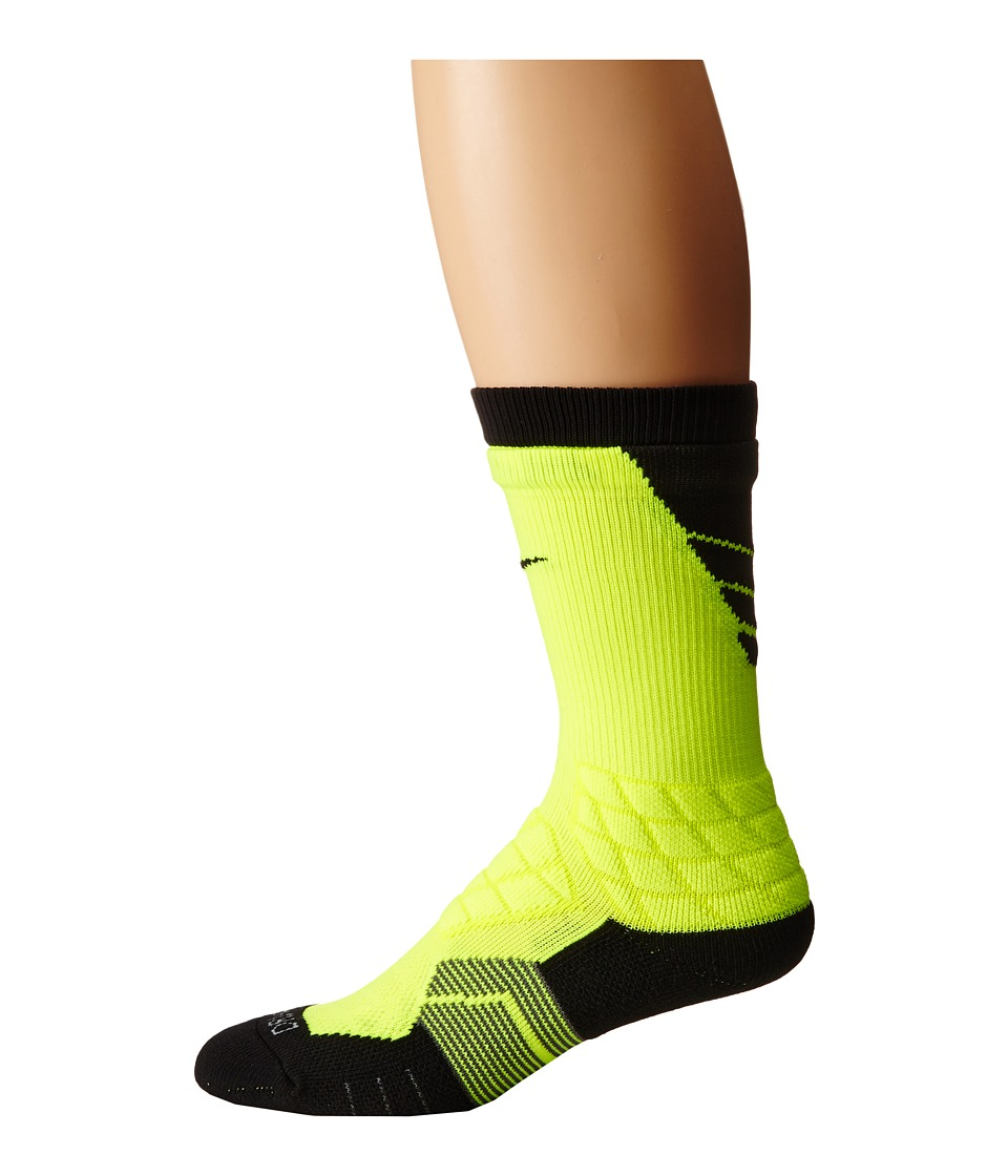 Nike - 2.0 Elite Vapor Football (Volt/Black/Black) Crew Cut Socks Shoes
