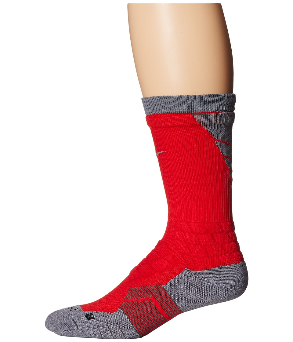 Nike - 2.0 Elite Vapor Football (University Red/Col Gy/Col Gy) Crew Cut Socks Shoes