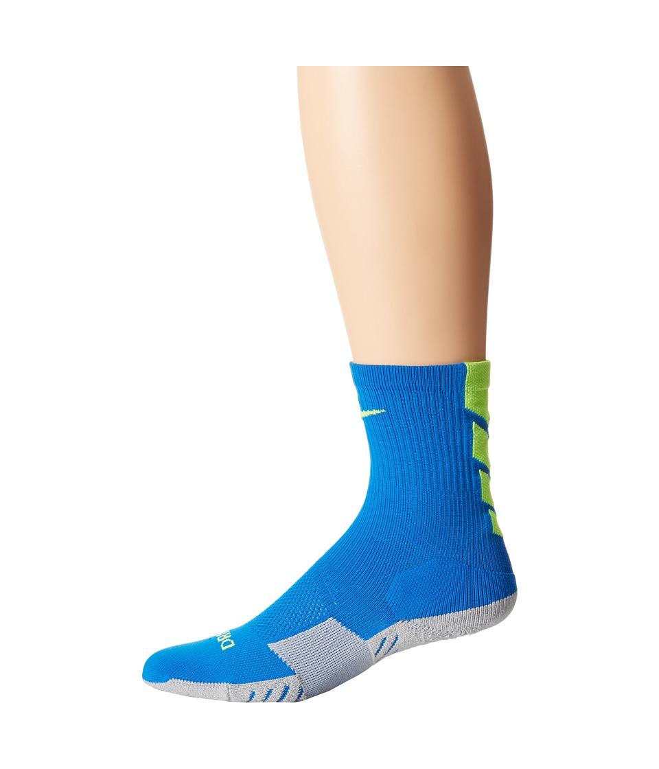 Nike - Stadium Soccer Crew (Soar/Wolf Grey/Volt/Volt) Crew Cut Socks Shoes