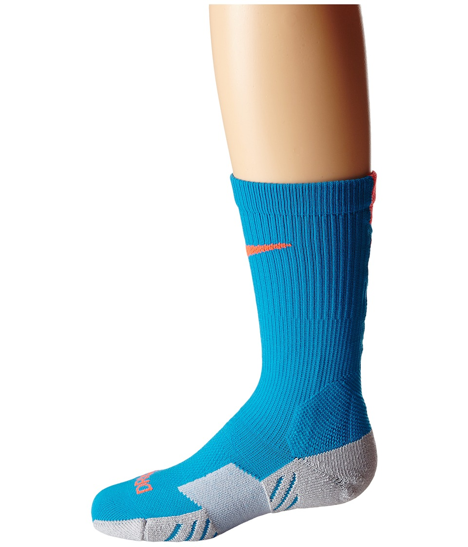 Nike - Stadium Soccer Crew (Light Blue Lacquer/Wolf Grey/Total Crimson/Total Crimson) Crew Cut Socks Shoes