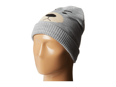 Plush - Fleece-Lined Bear Beanie (Heather Grey) Beanies