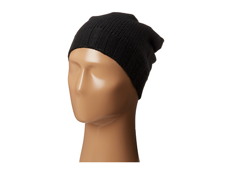 Plush - Fleece-Lined Knit Hat (Black) Cold Weather Hats
