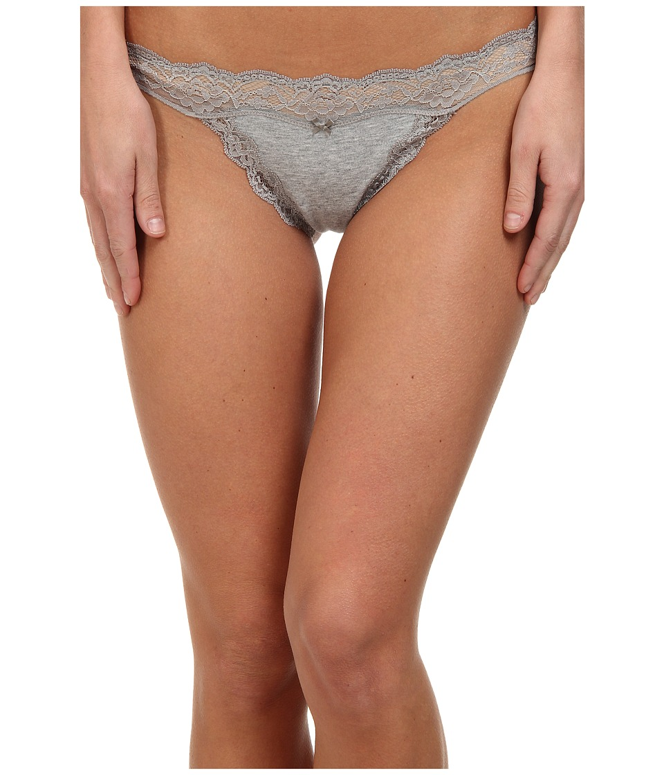 DKNY Intimates - Downtown Cotton G-String (Heather Gray/Gray Sky) Women's Underwear