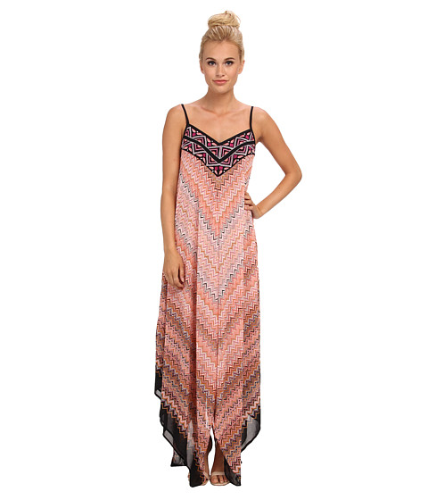 KAS New York - Delphnie Maxi Dress with Embroidered Bodice (Multi) Women
