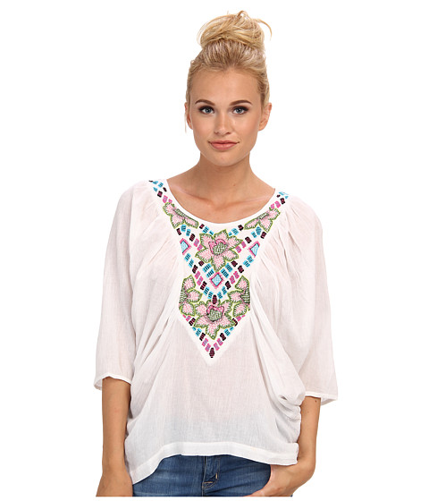 KAS New York - Roise Gauze Embroidered Blouse (White) Women