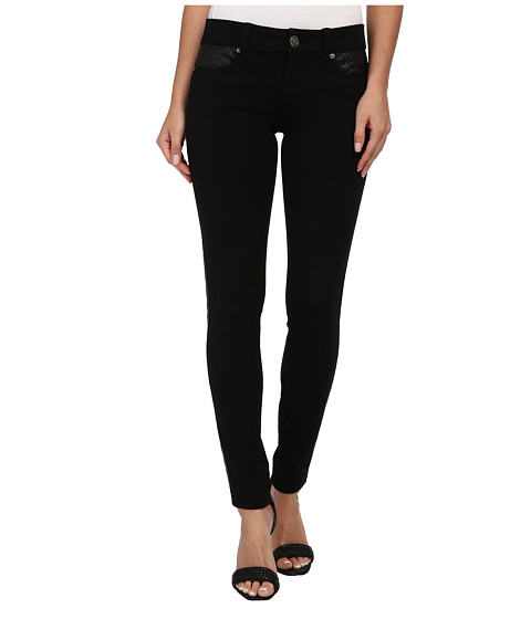 Request - 92552 Jegging Quilt PU (Black) Women's Jeans