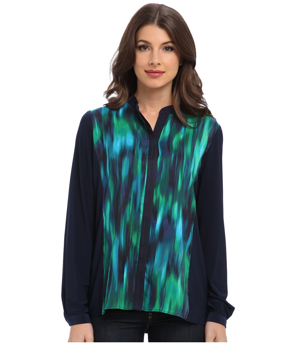 T Tahari - Christy Blouse (Navy Yard Multi) Women's Blouse