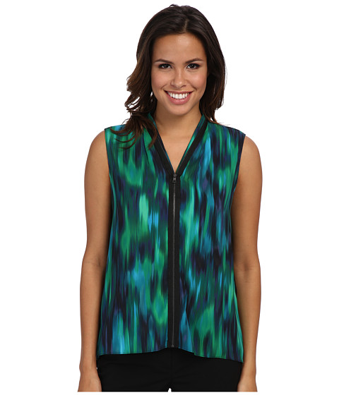 T Tahari - Carley Blouse (Navy Yard Multi) Women
