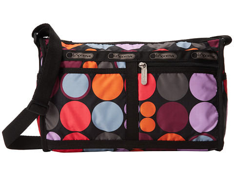 LeSportsac - Deluxe Shoulder Satchel (Dot O Fun) Cross Body Handbags