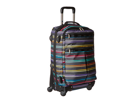LeSportsac Luggage - 22 Inch 4 Wheel Luggage (Lestripe Black Tr) Carry on Luggage