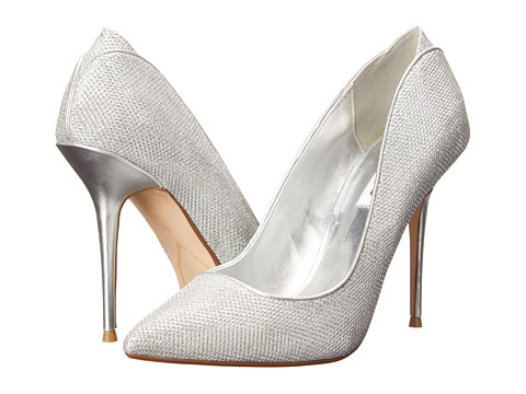 Dune London - Ballroom (Silver Lurex) High Heels