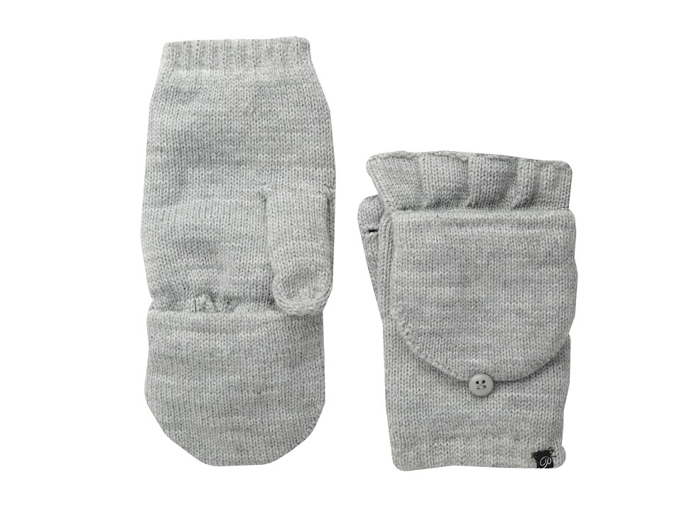 Plush - Fleece-Lined Texting Mittens (Heather Grey) Dress Gloves