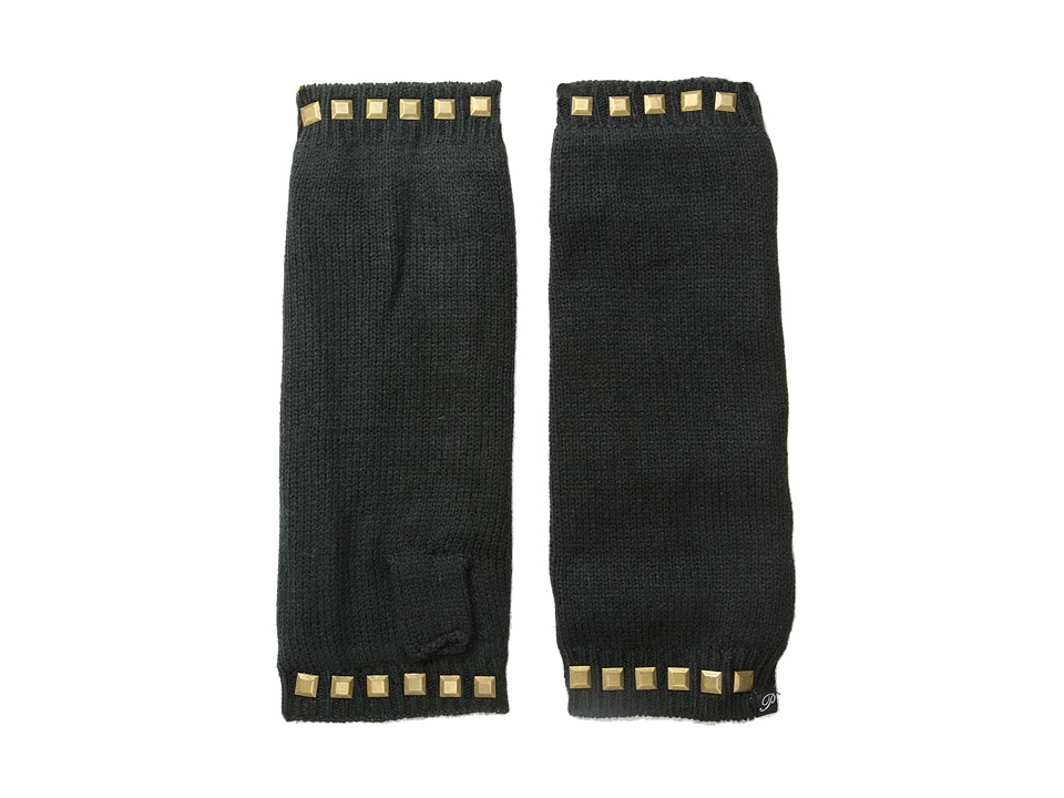 Plush - Fleece-Lined Studded Arm Warmer (Black) Dress Gloves