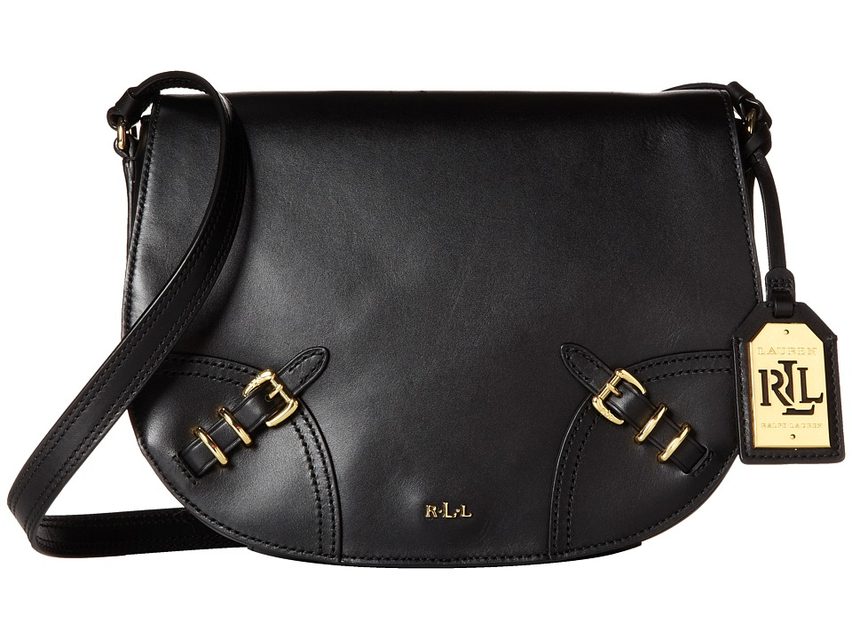 LAUREN Ralph Lauren - Lauren Saddle Bag (Black) Cross Body Handbags