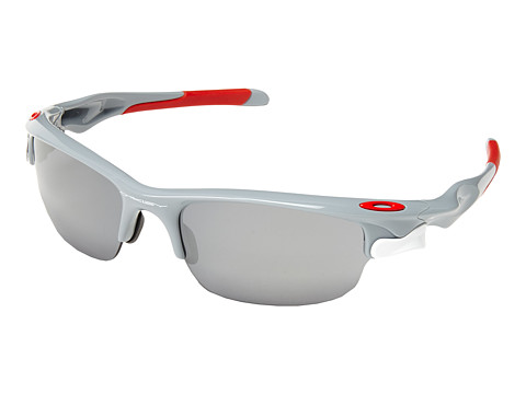 Oakley - Fast Jacket (Polished Fog w/Black Iridium & VR28) Sport Sunglasses