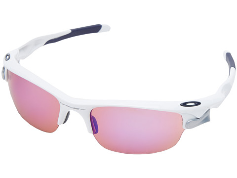 Oakley - Fast Jacket (Polished White w/VR28 Blue Iridium & Grey) Sport Sunglasses