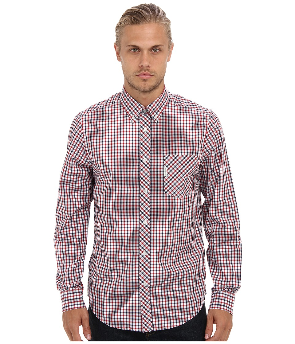 Ben Sherman - House Check L/S Shirt (Blue Depths) Men's Long Sleeve Button Up