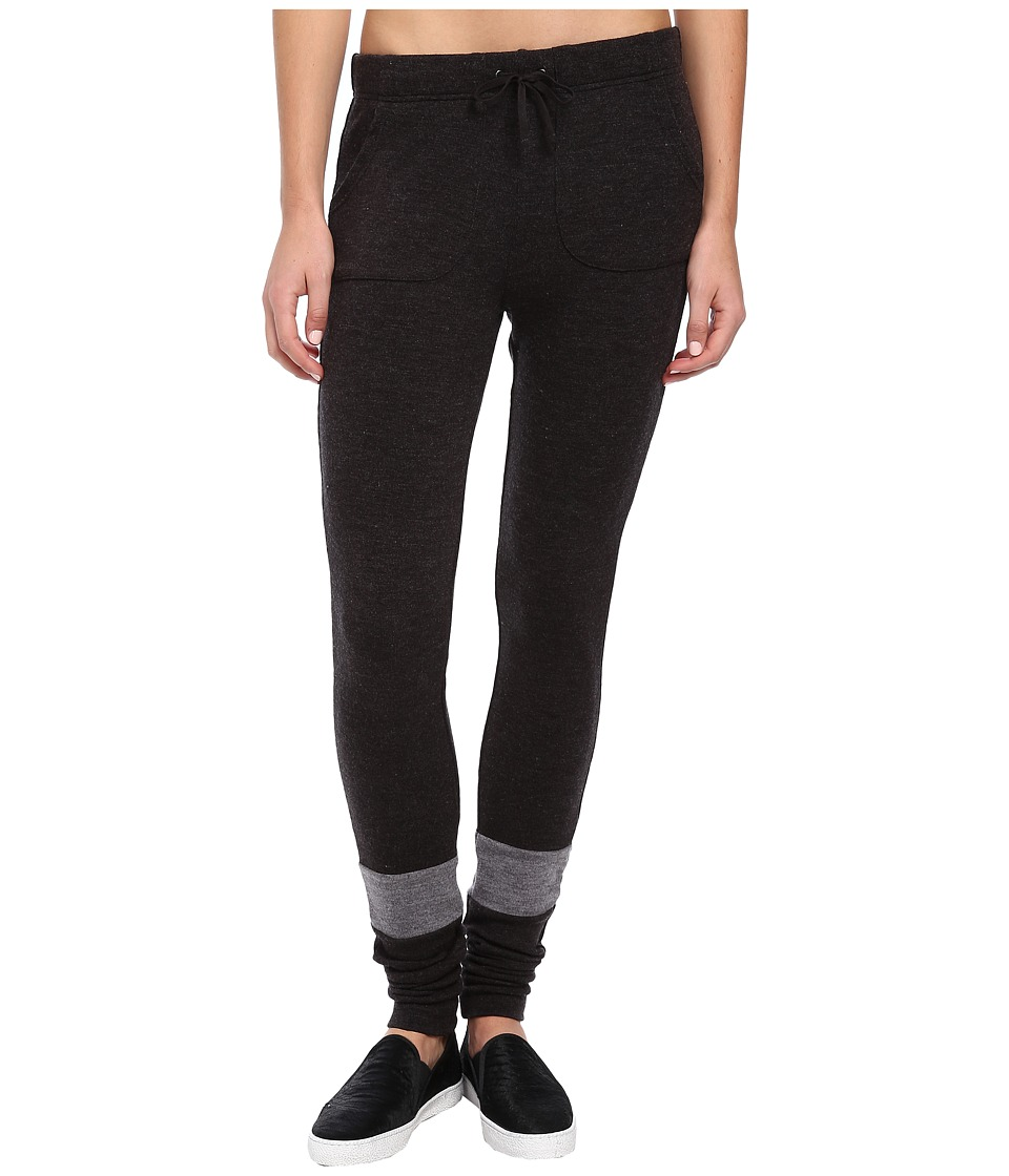 Plush - Striped Knit Jogger (Charcoal/Heather Grey) Women's Clothing