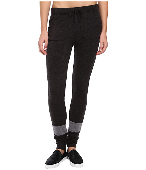 Plush - Striped Knit Jogger (Charcoal/Heather Grey) Women