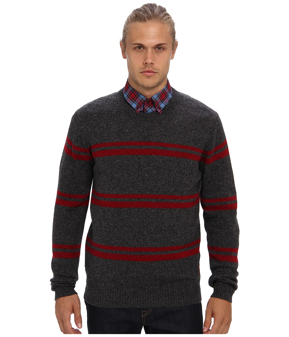 Ben Sherman - Stripe Sweater ME10730 (Grey) Men's Long Sleeve Pullover