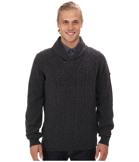 Ben Sherman - Textured Shawl Collar Sweater (Granite Marl) Men