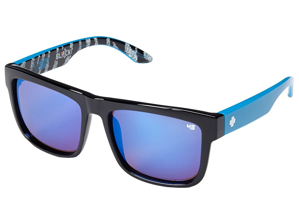 Spy Optic - Discord - Ken Block Livery Series (Black/Happy Bronze w/ Dark Blue Spectra) Fashion Sunglasses