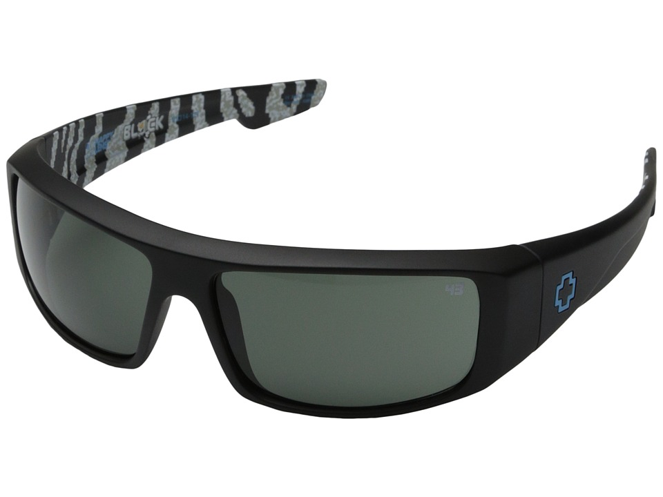 Spy Optic - Logan - Ken Block Livery Series (Matte Black/Happy Grey Green) Fashion Sunglasses