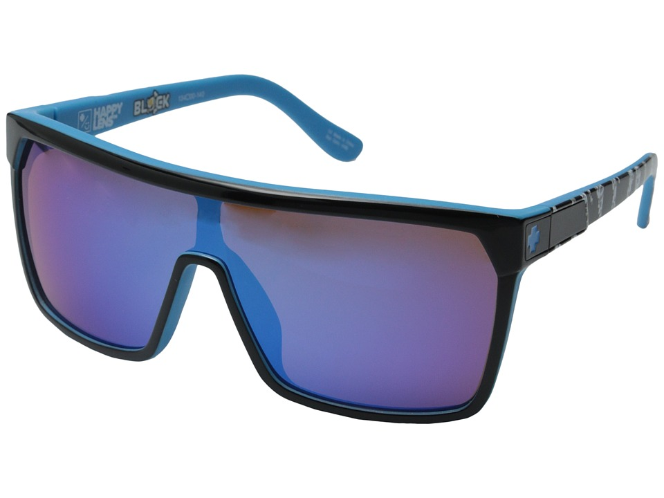 Spy Optic - Flynn - Ken Block Livery Series (Black/Happy Bronze w/ Dark Blue Spectra) Fashion Sunglasses