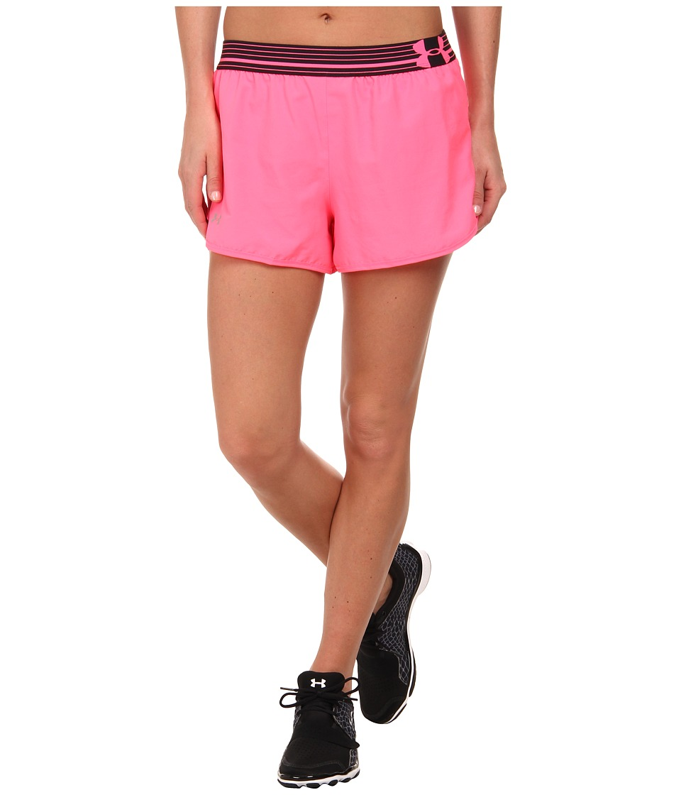 Under Armour - UA Perfect Pace Short (Cerise/Black/Reflective) Women's Shorts