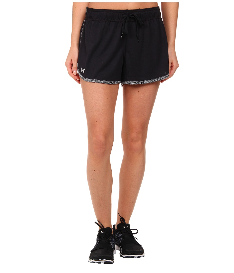 Under Armour Tech Short (Black/Black/Metallic Silver) Women