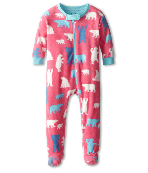 Hatley Kids - Footed Fleece Coverall (Infant) (Polar Bear) Girl
