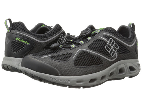 Columbia - Powervent (Black/Nuclear) Men's Shoes