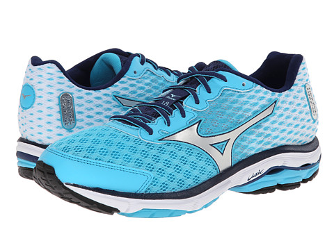 Mizuno - Wave Rider 18 (Blue Atoll/Silver/Blue Depths) Women's Shoes